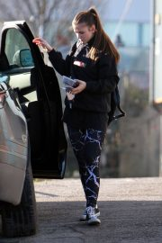 Brooke Vincent Stills at Dancing on Ice Training in Manchester 2018/02/07