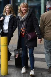 Charlotte Hawkins and Sara Cox Stills at Piccadilly Train Station in Manchester 2018/02/08
