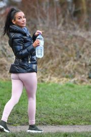 Chelsee Healey Stills Working Out at a Park in Manchester 2018/02/18