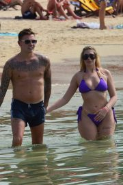 Chloe Ferry Stills in Bikini and Sam Gowland on the Beach in Thailand 2018/01/22