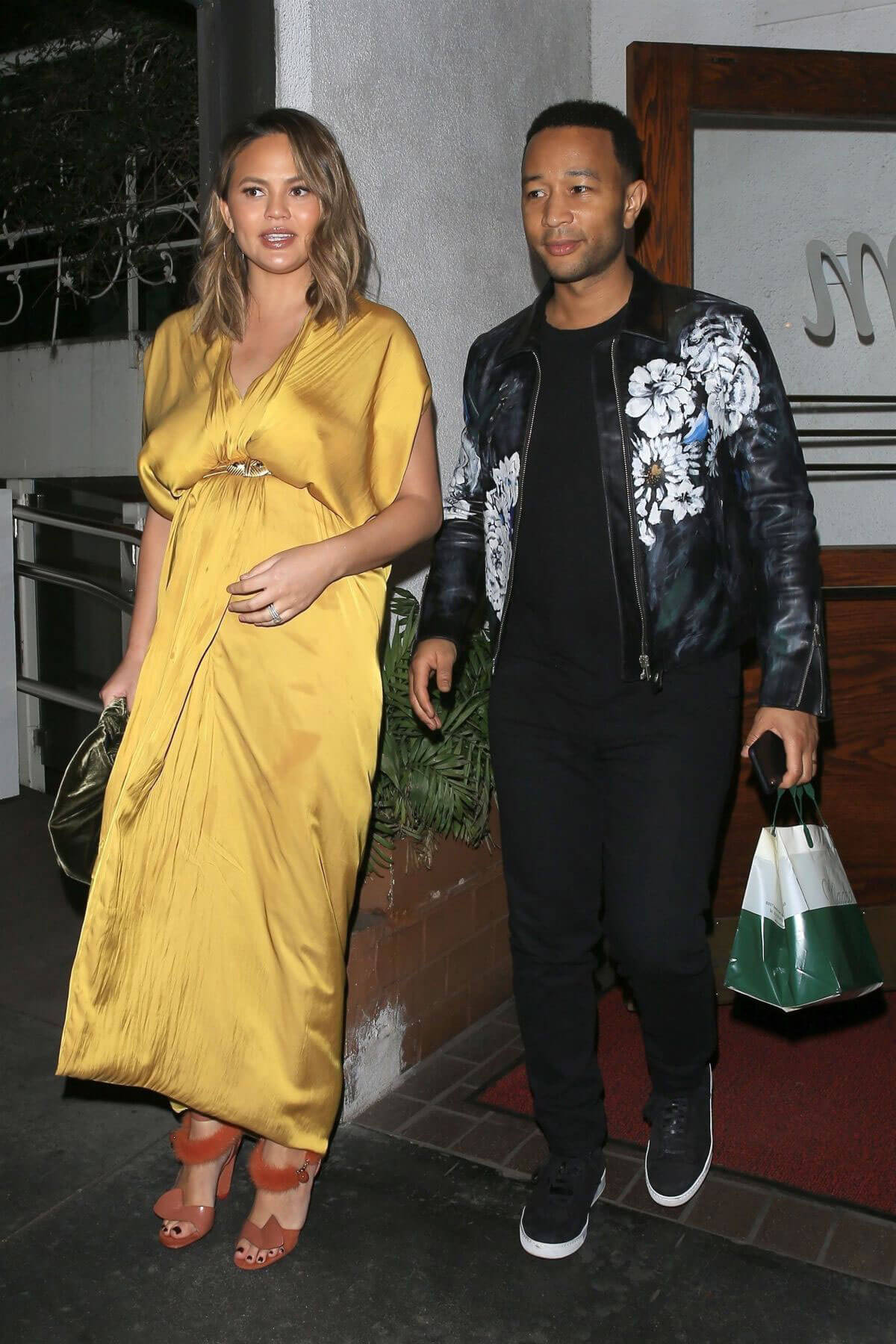 Chrissy Teigen and John Legend Stills at Madeo Restaurant in West Hollywood 2018/02/01