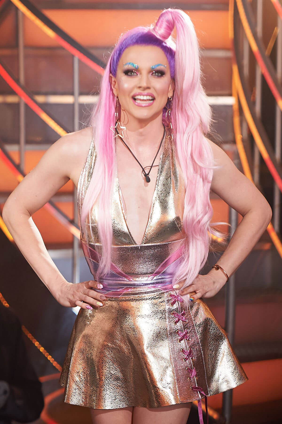Courtney Act Stills at Celebrity Big Brother Final in Borehamwood 2018/02/02