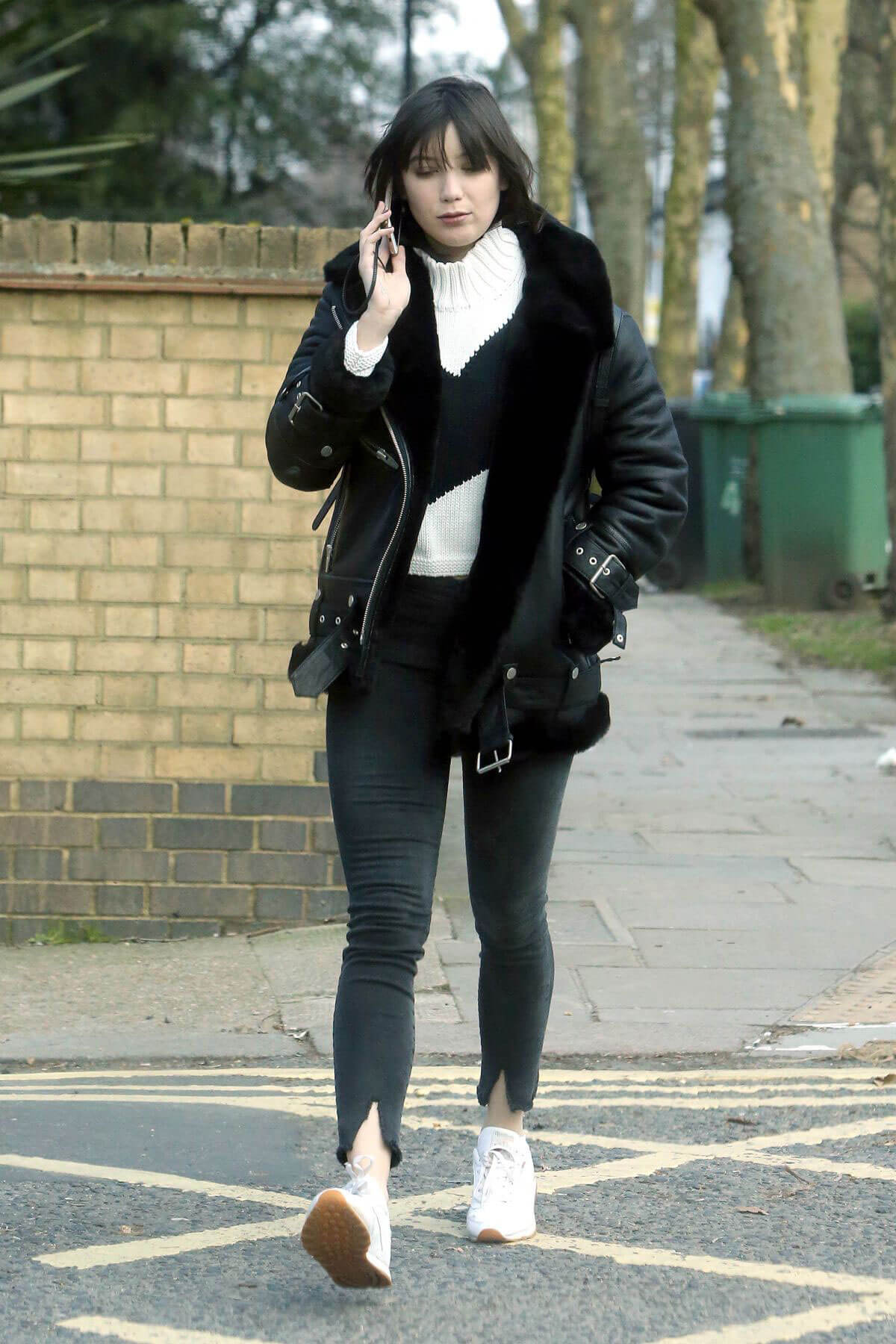 Daisy Lowe Stills Out and About in London 2018/02/22