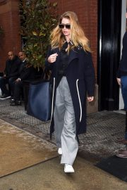 Doutzen Kroes Stills Leaves Mercer Hotel in New York 2018/02/10