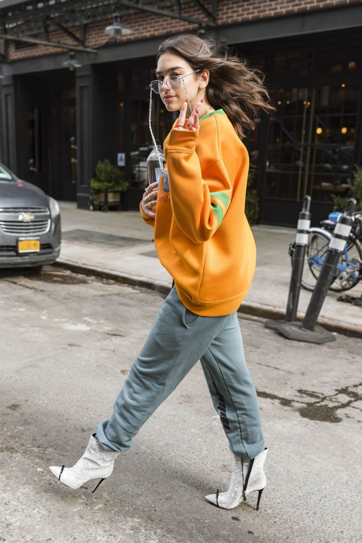 Dua Lipa Stills at SNL Rehearsals in New York 2018/02/02