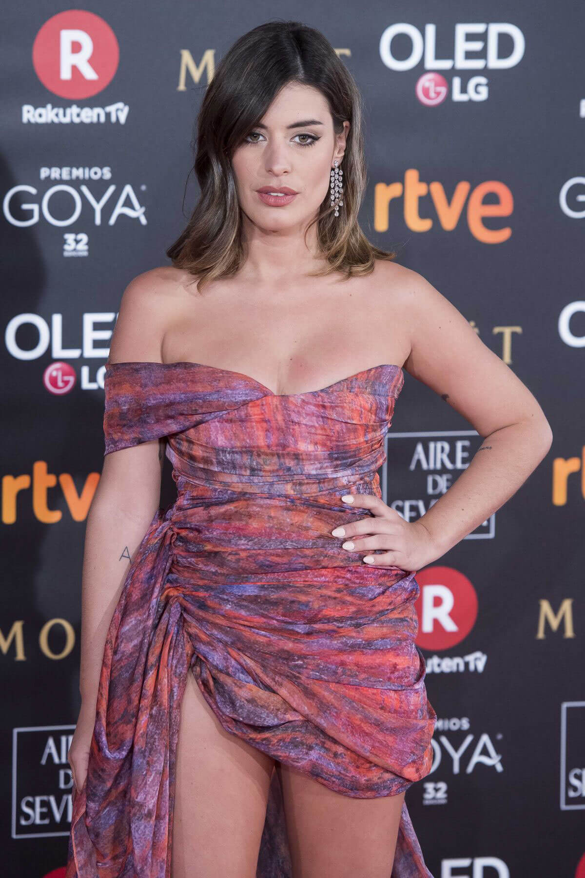 Dulceida Stills at 32nd Goya Awards in Madrid 2018/02/03
