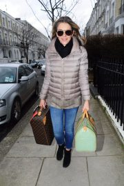 Elizabeth Hurley Stills Out and About in London 2018/02/09