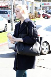 Elle Fanning Stills in Tights Out in Studio City 2018/02/24