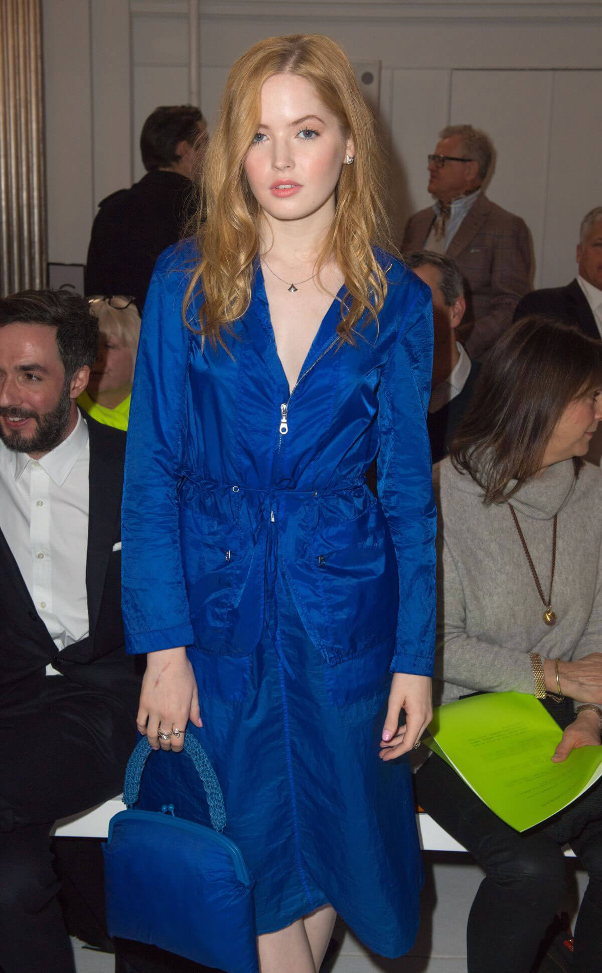 Ellie Bamber Stills at Jasper Conran Fashion Show in London 2018/02/17