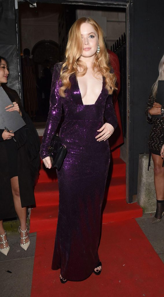 Ellie Bamber Stills at Vogue x Tiffany & Co Bafta Afterparty in London 2018/02/18