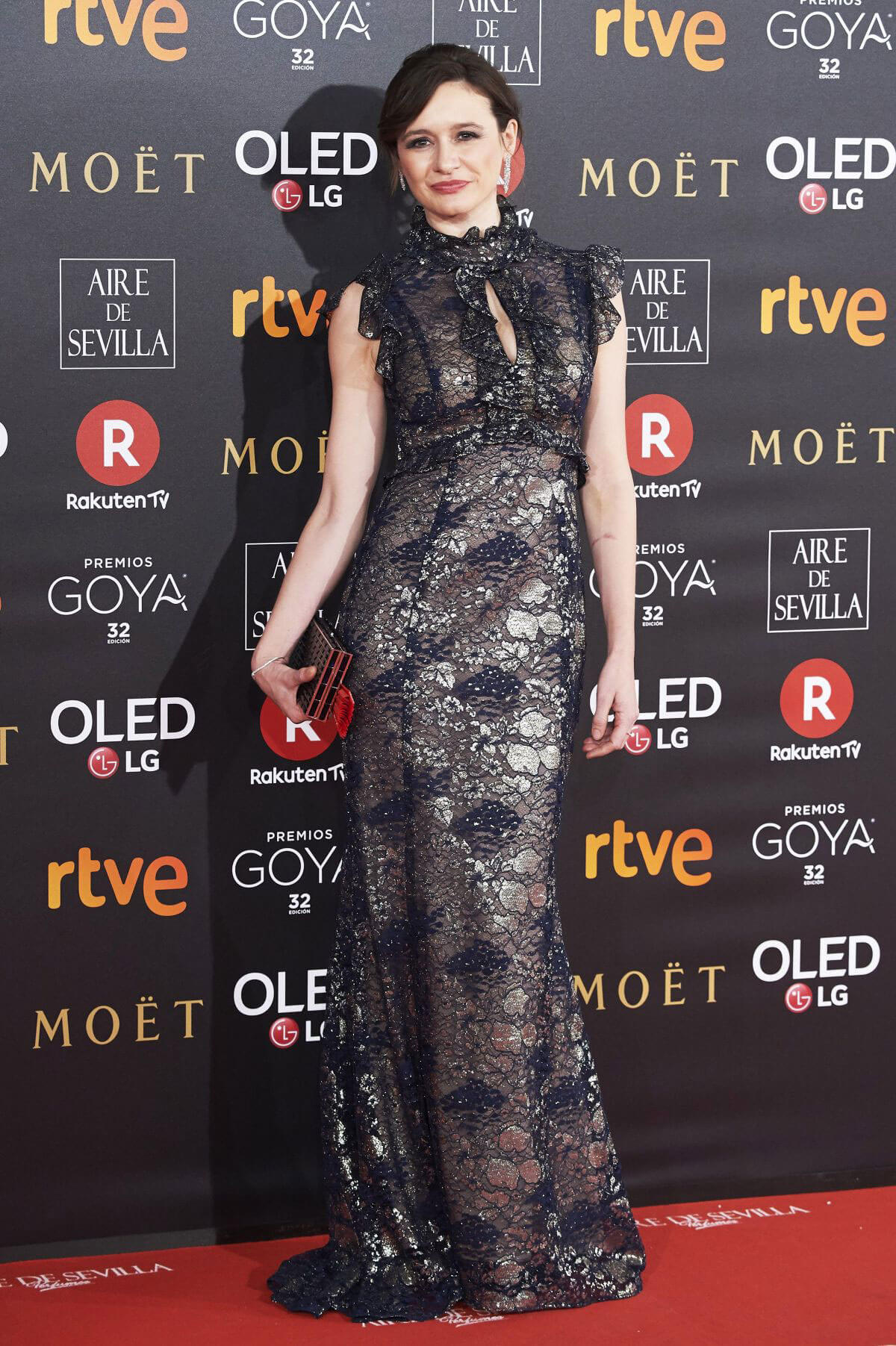 Emily Mortimer Stills at 32nd Goya Awards in Madrid 2018/02/03