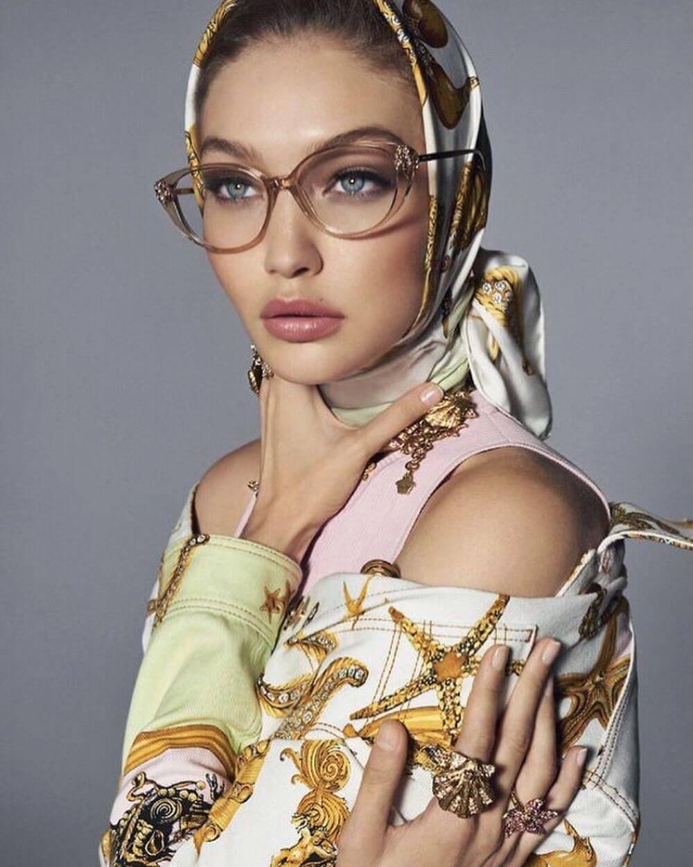 Gigi Hadid Poses for Versace Spring/Summer 2018 Campaign Photos
