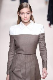 Gigi Hadid Stills at Fendi Fashion Show at MFW in Milan 2018/02/22