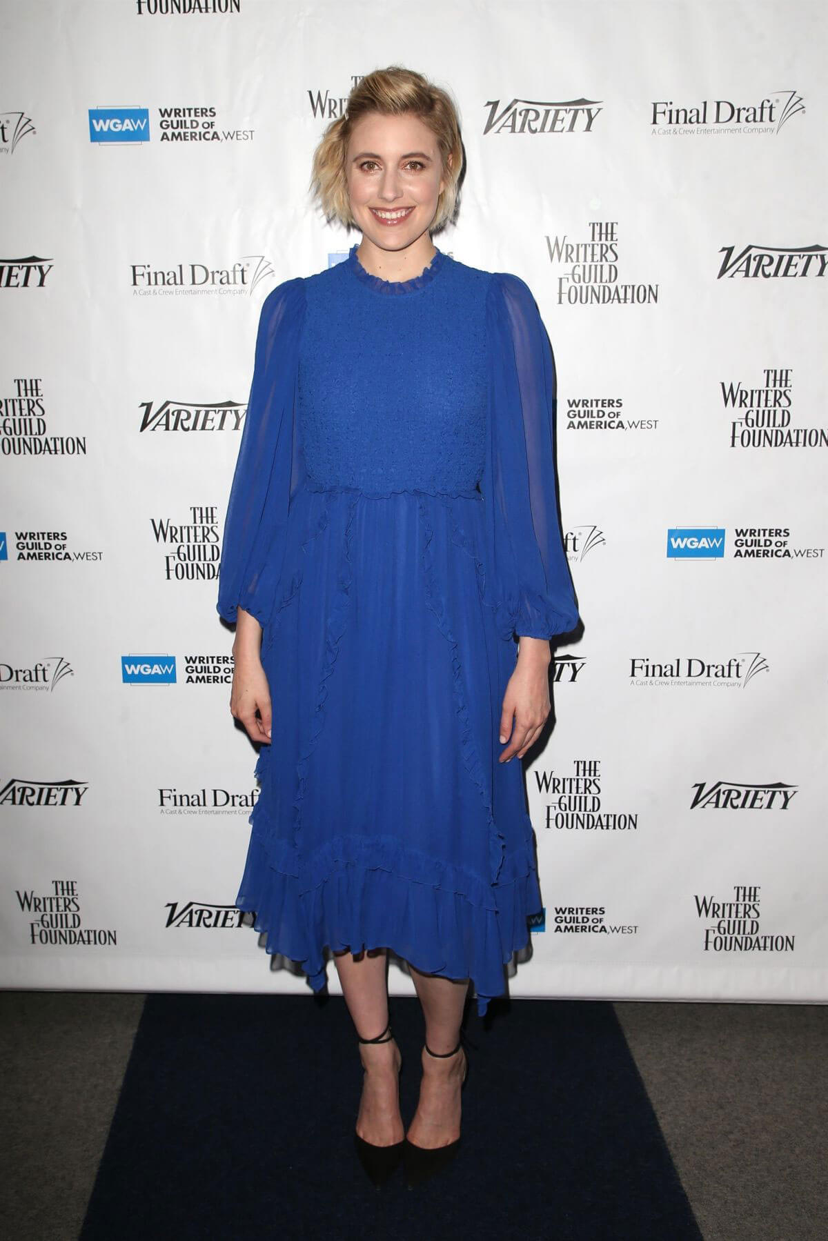 Greta Gerwig Stills at 2018 Writers Guild Awards Beyond Words Spotlighting Outstanding Screenwriting 2018/02/01
