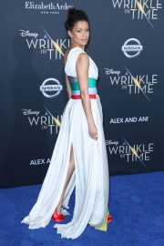 Gugu Mbatha-Raw Stills at A Wrinkle in Time Premiere in Los Angeles 2018/02/26