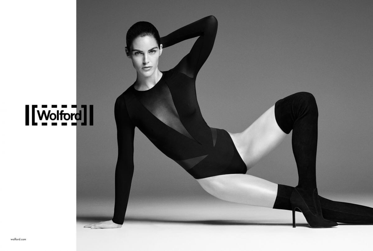 Hilary Rhoda Poses for Wolford Spring/Summer 2018 Campaign Photos