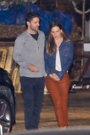 Hilary Swank and Philip Schneider Stills Out for Dinner at Soho in Malibu 2018/02/09