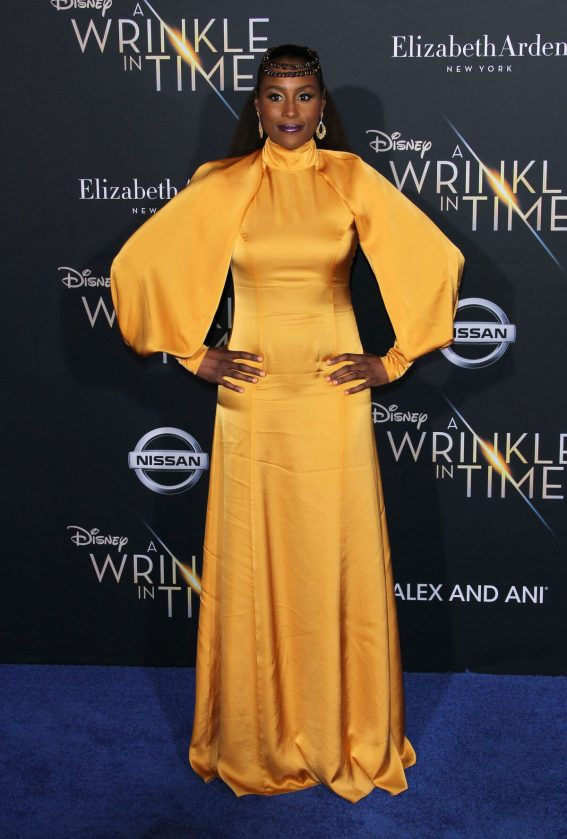 Issa Rae Stills at A Wrinkle in Time Premiere in Los Angeles 2018/02/26