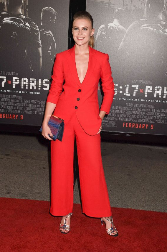 Jeanne Goursaud Stills at The 15:17 to Paris Premiere in Los Angeles 2018/02/05