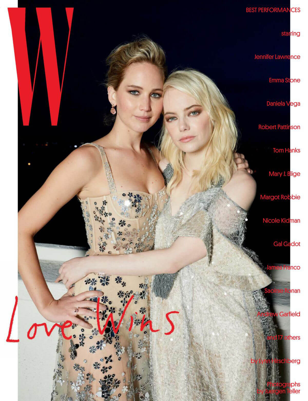 Jennifer Lawrence and Emma Stone Stills for W Magazine, January 2018, Best Performances Issue