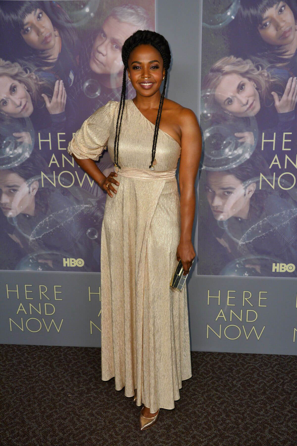 Jerrika Hinton Stills at Here and Now Premiere in Los Angeles 2018/02/05