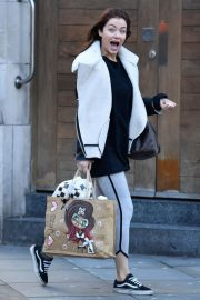 Jess Impiazzi Stills Leaves Her Hotel in Manchester 2018/02/09
