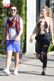 Jessica Serfaty and Ed Westwick Stills Out for Lunch in West Hollywood 2018/02/01