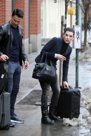 Julianna Margulies and Keith Lieberthal Stills Leaves Their Apartment in New York 2018/01/12