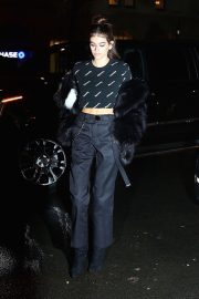 Kaia Gerber Stills at Jimmy Choo + Off-white Event in New York 2018/02/11