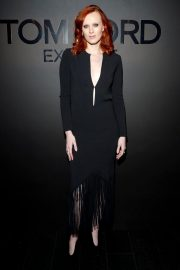 Karen Elson Stills at Tom Ford: Extreme Cocktail Party at HYFW in New York 2018/02/09