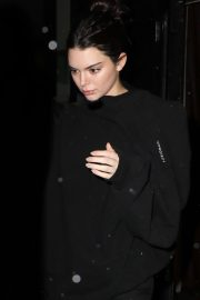 Kendall Jenner Stills Leaves Alexander Wang Show at New York Fashion Week 2018/02/10