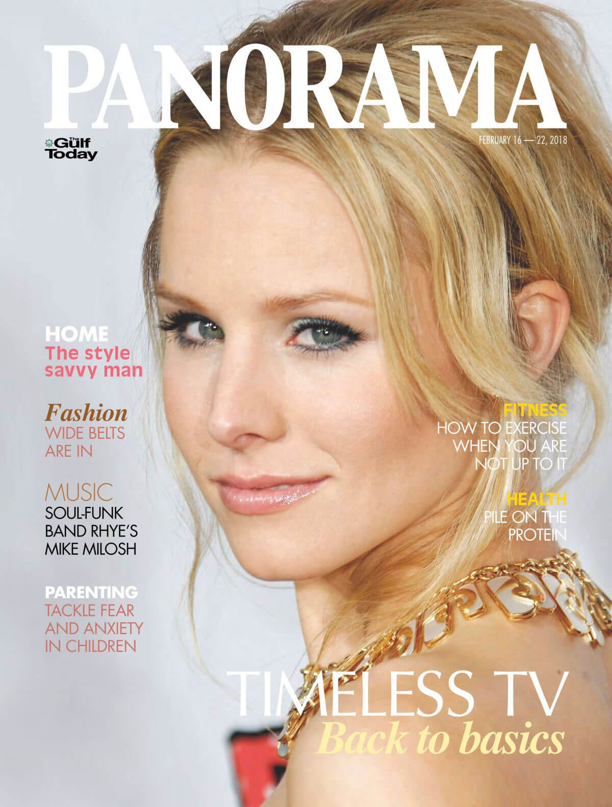 Kristen Bell Stills in Panorama Magazine, Middle East February 2018 Issue