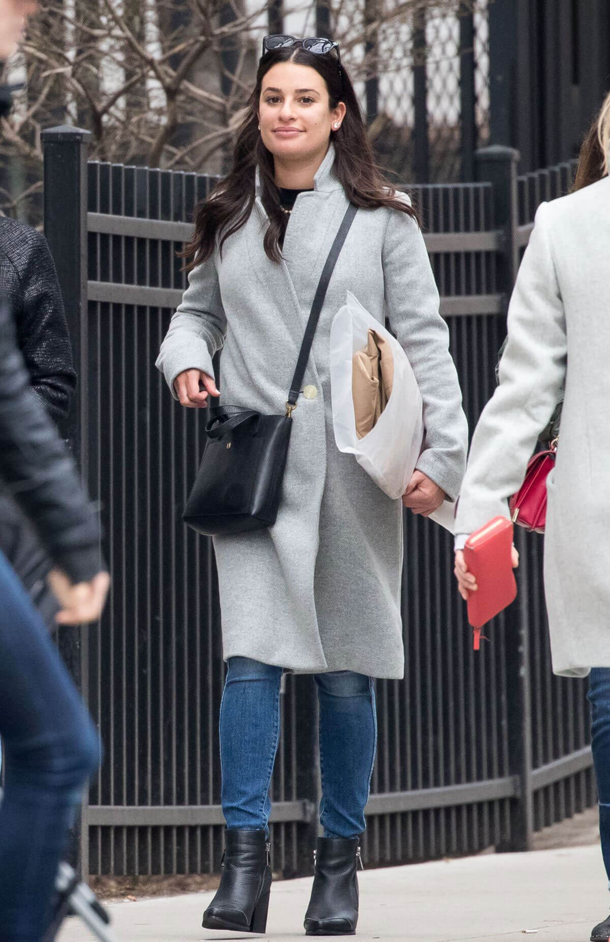 Lea Michele Stills Out and About in New York 2018/02/18