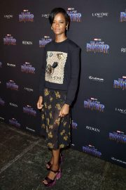 Letitia Wright Stills at Black Panther Welcome to Wakanda NYFW Showcase in New York 2018/02/12