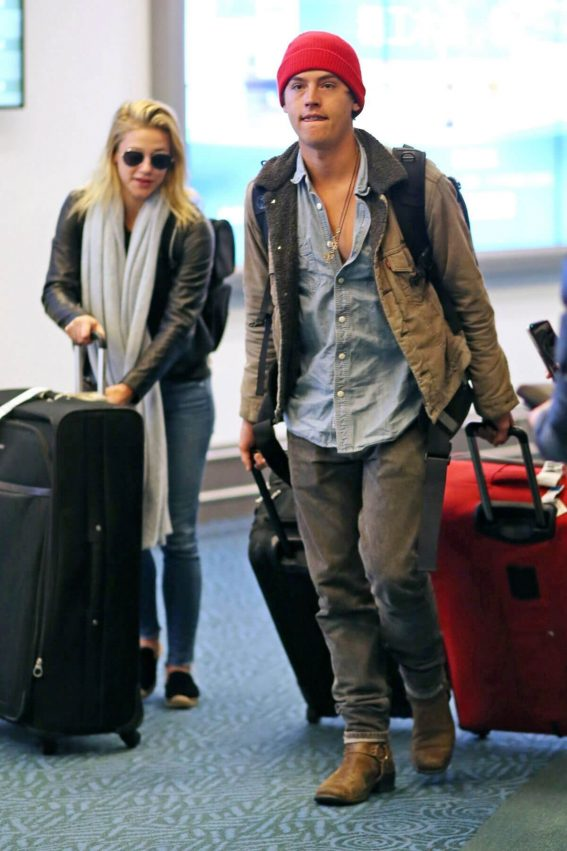 Lili Reinhart and Cole Sprouse Arrives in Vancouver 2018/01/07