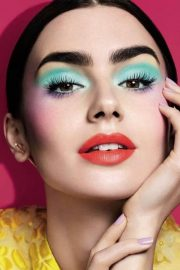 Lily Collins Stills for Lancome Spring 2018 Makeup Collection