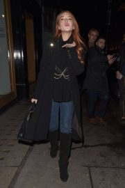 Lindsay Lohan Stills at Mnky Hse in London 2018/02/19