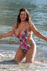 Lisa Appleton Stills in Swimsuit at a Beach in Benidorm 2018/02/03
