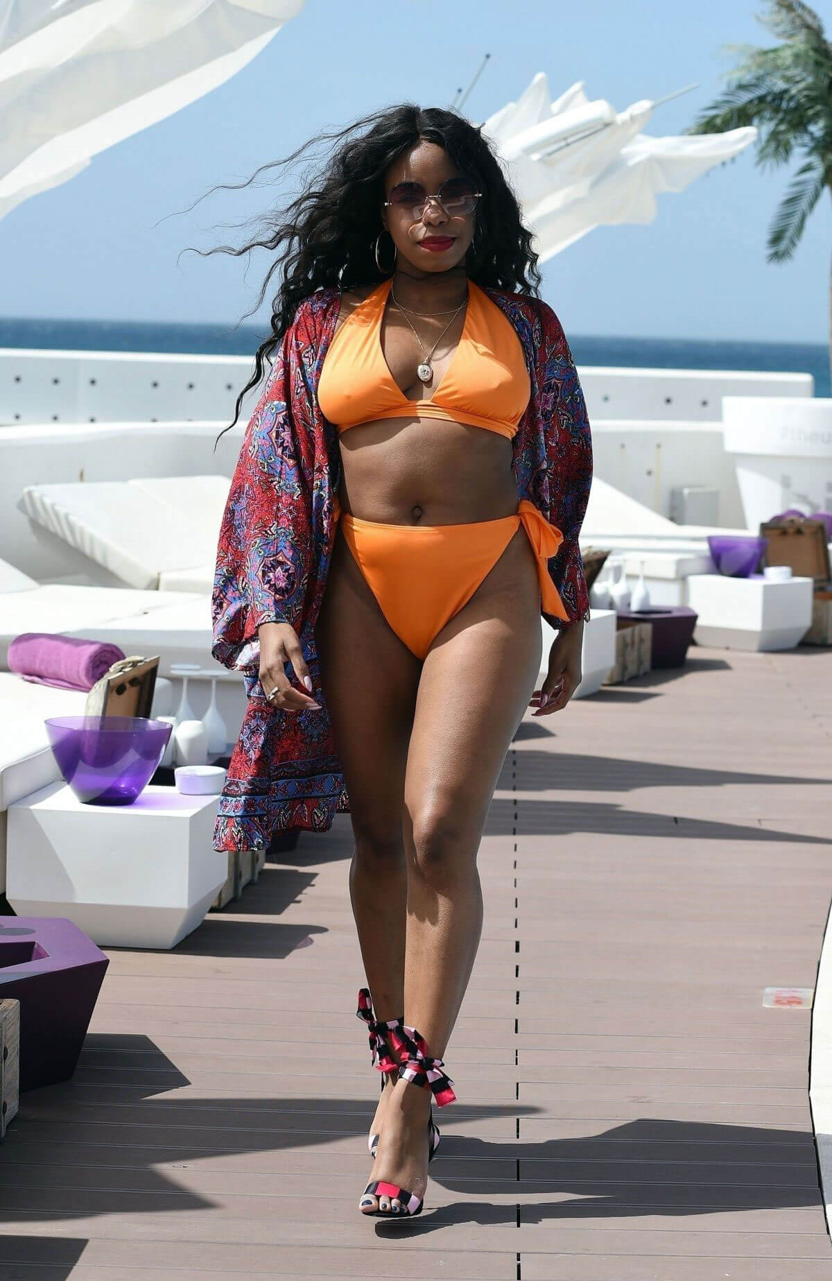 London Hughes Stills in Bikini at a Pool Party in Cape Verde 2018/02/01