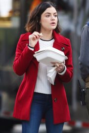 Lucy Hale Stills on the Set of Life Sentence in Vancouver 2018/01/09