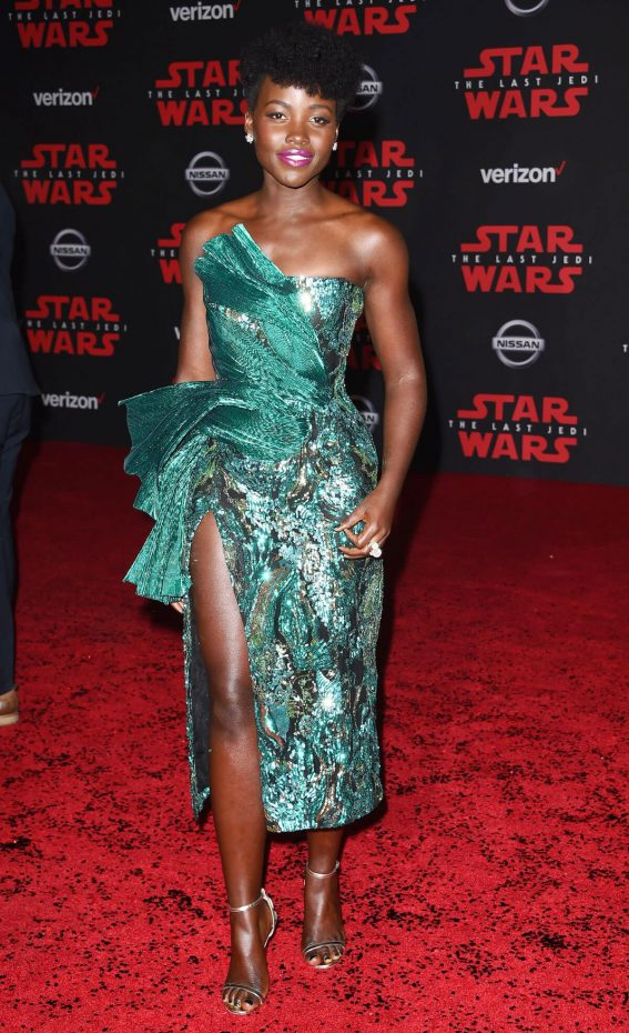 Lupita Nyong'o Stills at Star Wars: The Last Jedi Premiere in Los Angeles 2017/12/09