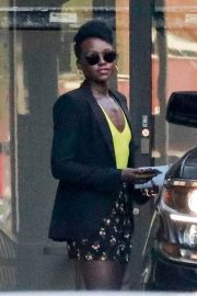 Lupita Nyong'o Stills Out for Coffee at Cafe Gratitude in Los Angeles 2018/02/02