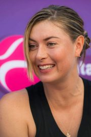 Maria Sharapova Stills at 2018 Qatar Total Open WTA Tennis Tournament Press Conference in Doha 2018/02/10
