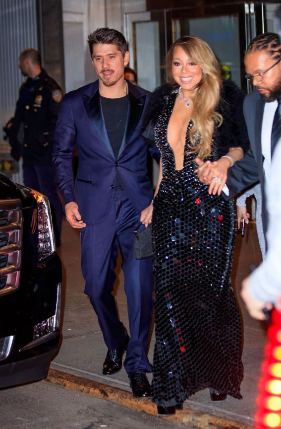 Mariah Carey and Bruan Tanaka Stills Leaves Clive Davis Pre-Grammy Party in New York 2018/01/28