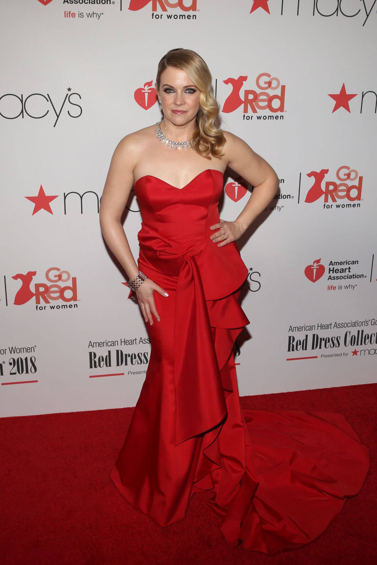 Melissa Joan Hart Stills at Go Red for Women Red Dress Collection 2018 Presented by Macy's in New York 2018/02/08