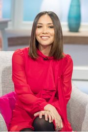 Myleene Klass Stills at Lorraine TV Show in London 2018/02/05