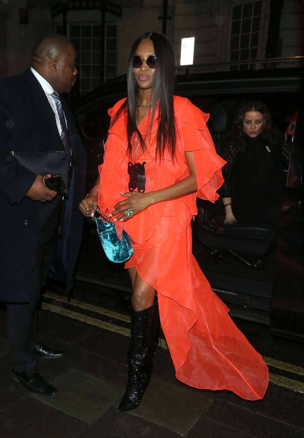 Naomi Campbell Stills at Mnky Hse in London 2018/02/19