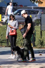 Nina Dobrev Stills Out with Her Brother Alexander at a Park in Los Angeles 2018/02/03