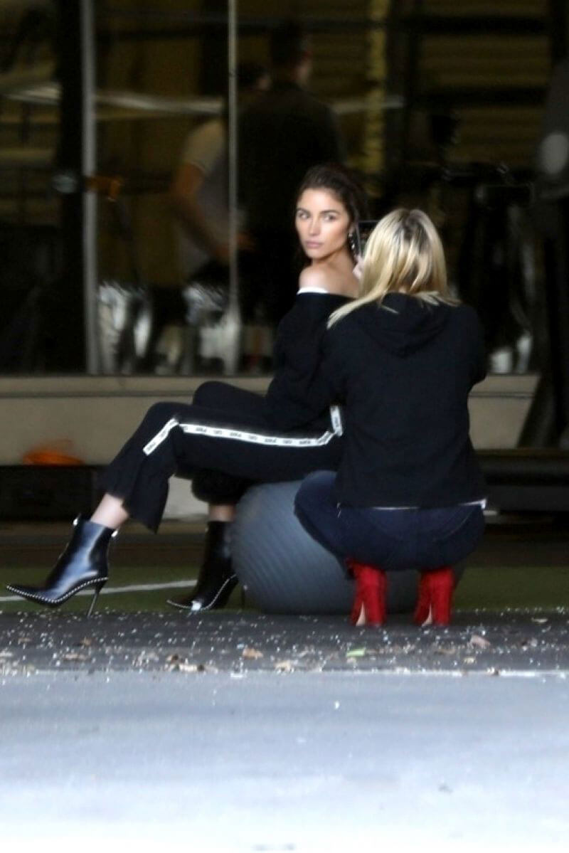 Olivia Culpo Poses for Her Latest Capsule Collection at a Gym in Los Angeles 2018/02/19