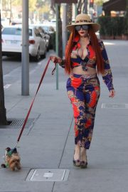 Phoebe Price Stills Out with Her Dog in Beverly Hills 2018/01/31